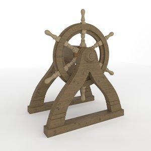 ship wheel 3D model