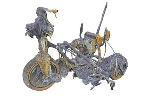garbage burnt bicycle 3D
