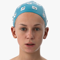 Rhea Human Head Lower Lip Depressor AU16 Clean Scan