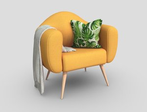 3D design armchair games butaca model