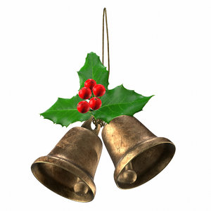 3D bell christmas holly