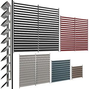 shutter windows doors blinds 3D model
