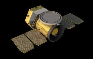 space satellite 3D model