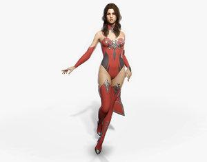 3D fantasy girl