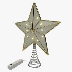 christmas star tree topper 3D model