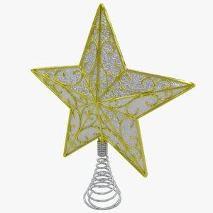3D model christmas star tree topper
