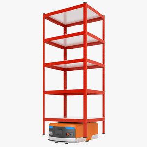 storage rack warehouse 3D