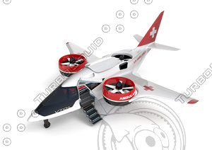 medical ambulance xti aircraft 3D