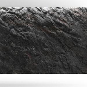 3D rock wall cliff