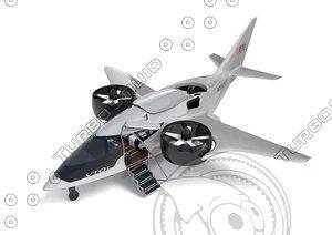 hybrid-electric aircraft xti trifan 3D model