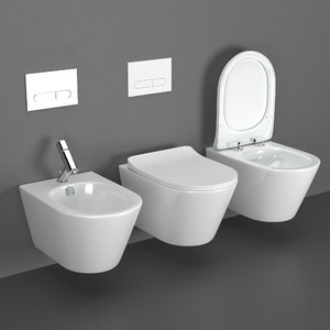 3D toilets bidet volle aiva