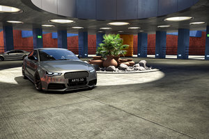 3D interior scene 14 b model