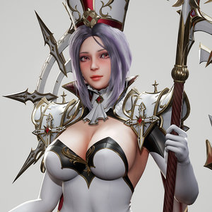 3D priestess ready character