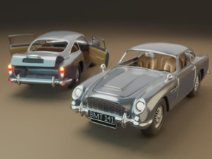 classic car aston martin 3D model
