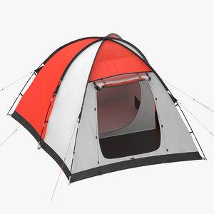 3D tent 01 red model