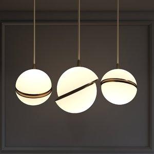 designer lighting chandelier suspension 3D model