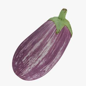 graffiti eggplant 01 raw 3D model
