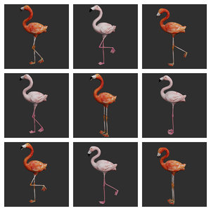 flamingo bird ready 3D model