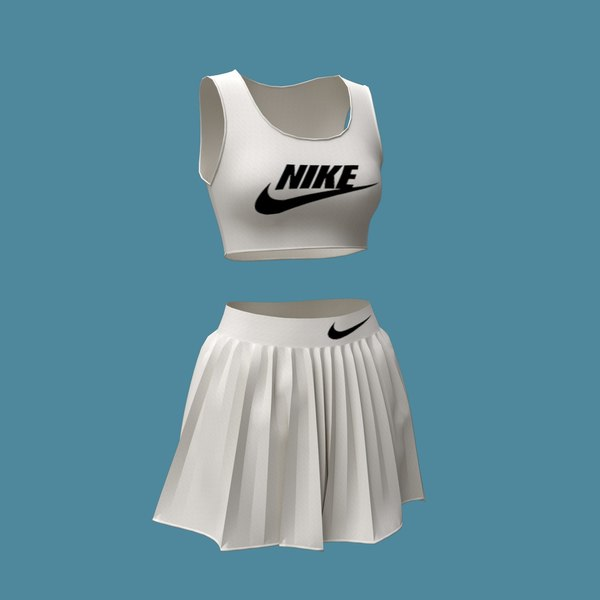 3D female sportswear