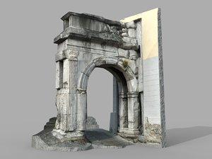 arch riccardo monument model