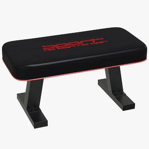 3D flat sport bench