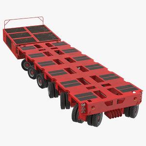 3D model 6 axle lines modular