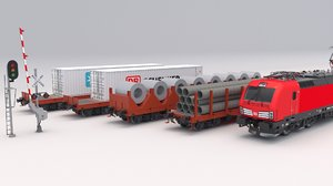 3D cargo train db car