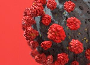 3D model virus corona