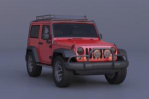 jeep wrangler suv ar 3D