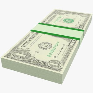 3D model dollars bills