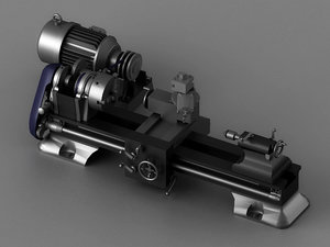 grinding lathes turning plants 3D model