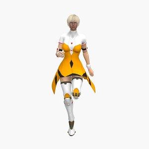 3D pandora cyber lady