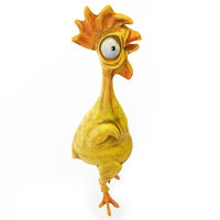 Chicken cartoon toy low poly