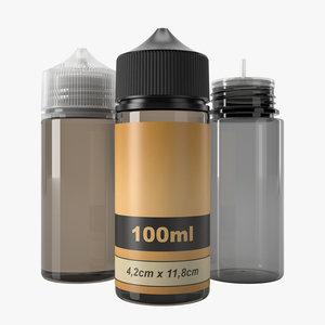 bottle 100ml type6 3D model