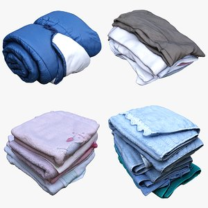 clothes towels fabric 3D model