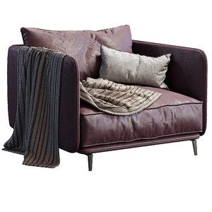 armchair k2 arflex 3D model