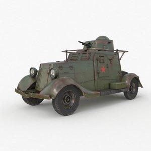 3D fai m armoured car