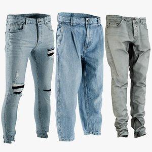 realistic men s jeans 3D