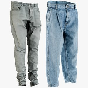 3D model realistic men s jeans