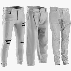 mesh men s jeans 3D model