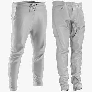 mesh men s jeans 3D