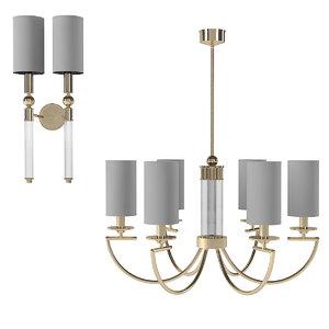 wall lamp chandelier 3D model