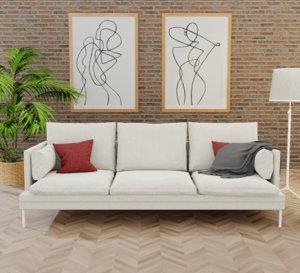 3D zanotta william couch metrica model