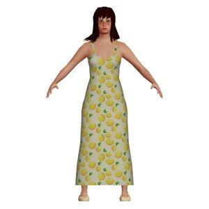 white girl 3D model