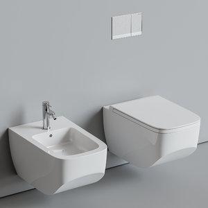 3D toilet hatria bidet