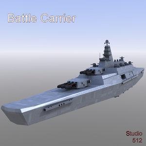 3D space battle carrier model