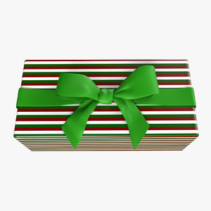 ribbon bow gift animation 3D