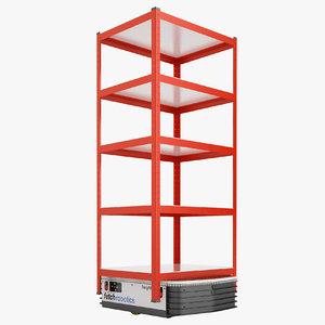 storage rack warehouse 3D model