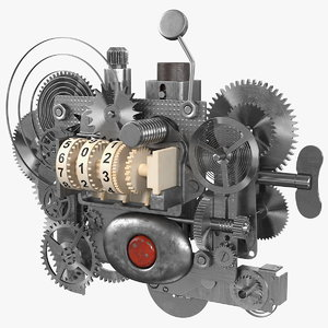 clockwork gear counter mechanism 3D
