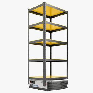 3D storage rack warehouse model